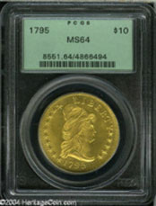 1795 $10 13 Leaves MS64 PCGS